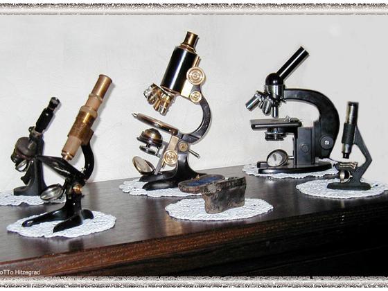 Alte Mikroskope